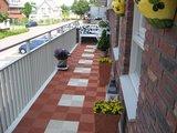 Antislip balkontegels terracotta en crème