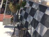 Antislip balkonvloer zwart wit
