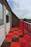 Gekleurde balkontegels