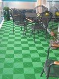 Groene Ribdeck vloertegels_