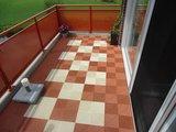 Antislip balkonvloer terracotta en crème