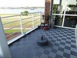 Antislip balkontegel grijs