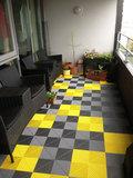 Ribdeck balkontegels RVS en Geel