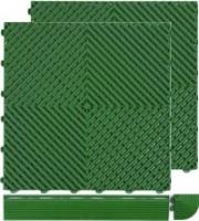 Ribdeck balkontegel proefpakket met 2 tegels incl. afwerkrand en hoekstuk