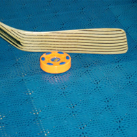 Sportdeck probeerpakket met 2 tegels incl. afwerkrand en hoekstuk